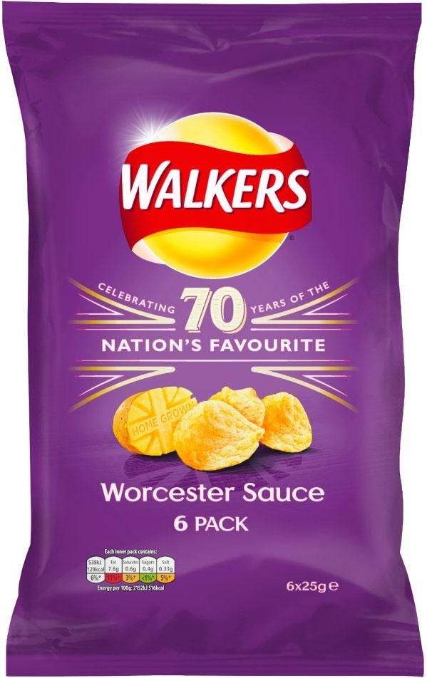 Walkers Worcester Sauce Crisps