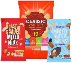 Sainsbury Nuts and Snacks