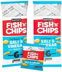 Burtons Daily Fish and Chips Baked Snack Biscuits