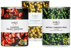 Marks and Spencer Tinned Vegetables