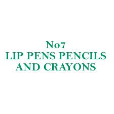 No 7 Lip Pens Pencils and Crayons