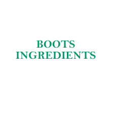 Boots Ingredients