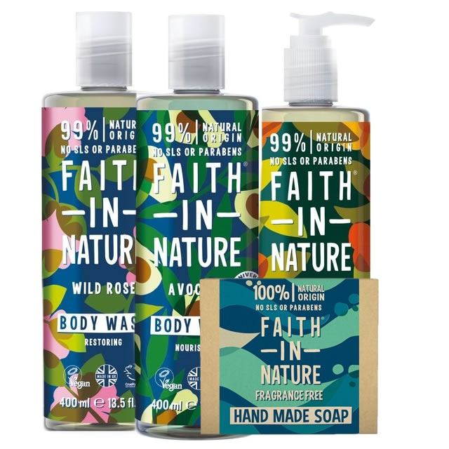 Faith in Nature Shower Bath and Soap