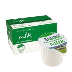 Individual Portions of Milk and Cream