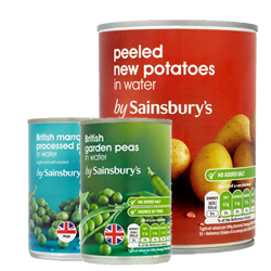 Sainsbury Canned Vegetables