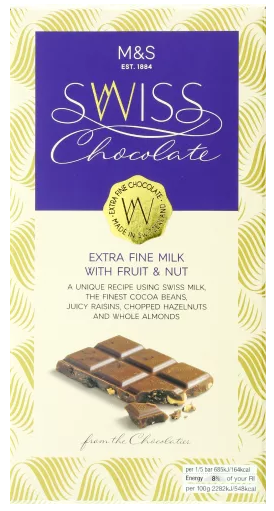 Marks and Spencer Chocolate Bars
