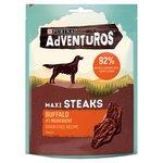 Adventuros Grain Free Maxi Steaks Buffalo Flavour Dog Treat 100g