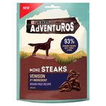 Adventuros Grain Free Mini Steaks Venison Flavour Dog Treat 100g