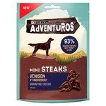 Adventuros Grain Free Mini Steaks Venison Flavour Dog Treat 100g