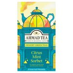 Ahmad Tea Citrus Mint Sorbet 15 loose Leaf Pyramids per pack