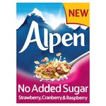Alpen No Added Sugar Strawberry Cranberry And Raspberry Muesli 560g