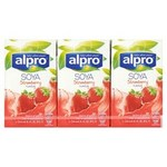 Alpro Strawberry Soya Drink 3x250ml