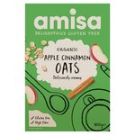 Amisa Organic Gluten Free Pure Porridge Oats Apple and Cinnamon Spice 300g