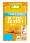 Asda Sugar Free Butter Scotch Drops 44g