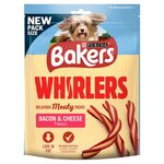 Bakers Whirlers Dog Treats Bacon And Cheese 130g