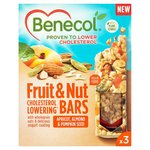 Benecol Fruit and Nut Bars Apricot Almond And Pumpkin Seed 3 Pack