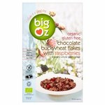 Big Oz Organic Gluten Free Buckwheat Flakes with Freeze Dried Raspberries 350g