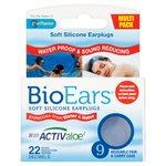 BioEars Soft Silicone Earplugs 9 per pack
