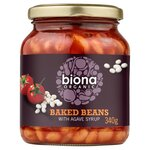Biona Organic Baked Beans in Tomato Sauce 340g