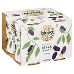 Biona Organic Black Beans 4 x 400g