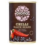 Biona Organic Chilli Black Beans in a Spicy Chilli Sauce 410g