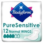 Bodyform Pure Sensitive Normal with Wings 12 Pack
