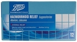 Boots Haemorrhoid Relief Suppositories 12 Pack