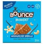 Bounce Breakfast Madagascan Vanilla Protein Fibre Bars 3X45g