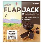 Brynmor Dark Chocolate and Ginger Flapjack 4 x 40g