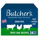 Butchers Grain Free Tripe Loaf Recipes Dog Food 24 x400g