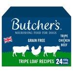 Butchers Grain Free Tripe Loaf Recipes Dog Food 24 x400g