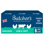 Butchers Wholegrain Lean and Tasty Low Fat Dog Food Tins 6 x 400g