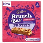 Cadbury Brunch Protein Hazelnut and Cranberry Cereal Bar 160g