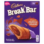 Cadbury Choco Melting Middle Break Bar 5 Pack