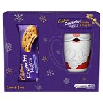Cadbury Crunchy Melts Chocolate Centre Cookies with Christmas Mug 156G