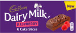 Cadbury Dairy Milk Chocolate and Raspberry Cake Slice 6 Pack