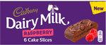 Cadbury Dairy Milk Chocolate and Raspberry Cake Slice 6 Pack