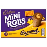 Cadbury Easter Mini Rolls Caramel 8 Pack