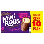 Cadbury Raspberry Mini Rolls 10 pack