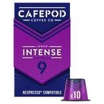 CafePod Intense Nespresso Compatible Coffee Capsules 10 per pack