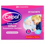 Calpol Sugar Free Infant Suspension Sachets 20 Pack 2 Months Plus