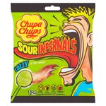 Chupa Chups Sour Infernals Lollies Bag 12 per pack