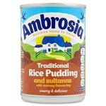 Clearance Line Ambrosia Creamy Rice Pudding with Sultanas and Nutmeg 425g Tin