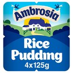Clearance Line Ambrosia Rice Pudding 4 X 125g