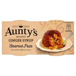 Clearance Line Auntys Ginger Syrup Steamed Puddings 2x95g