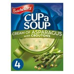 Clearance Line Batchelors Cup A Soup with Croutons Cream of Asparagus 4 sachets