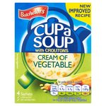 Clearance Line Batchelors Cup A Soup with Croutons Cream Of Vegetable 4 sachets
