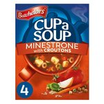 Clearance Line Batchelors Cup A Soup with Croutons Minestrone 4 Sachets