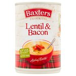 Clearance Line Baxters Favourites Lentil and Bacon Soup 400g ***DENTED CAN***