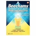 Clearance Line Beechams Breathe Clear Hot Honey and Lemon Menthol 10 per pack